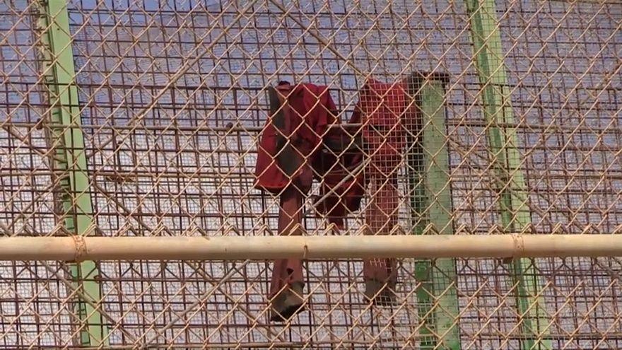 España devuelve a 55 migrantes que saltaron la valla de Melilla