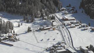 منتجع دافوس في سويسرا حيث يعقد المنتدى الاقتصادي السنوي