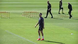 شاهد: يوفنتوس ومانشيستر يونايتد يستعدان للقائهما ضمن دوري أبطال أوروبا