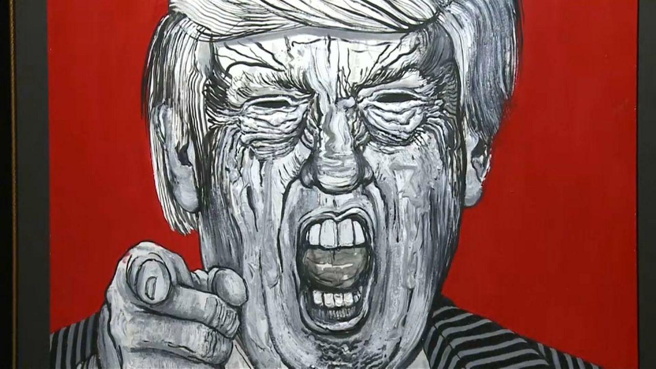Robbie Conal: Donald Trump, über-zeichnet