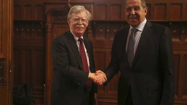 Russian Foreign Minister Lavrov meets U.S. National Security Adviser Bolton