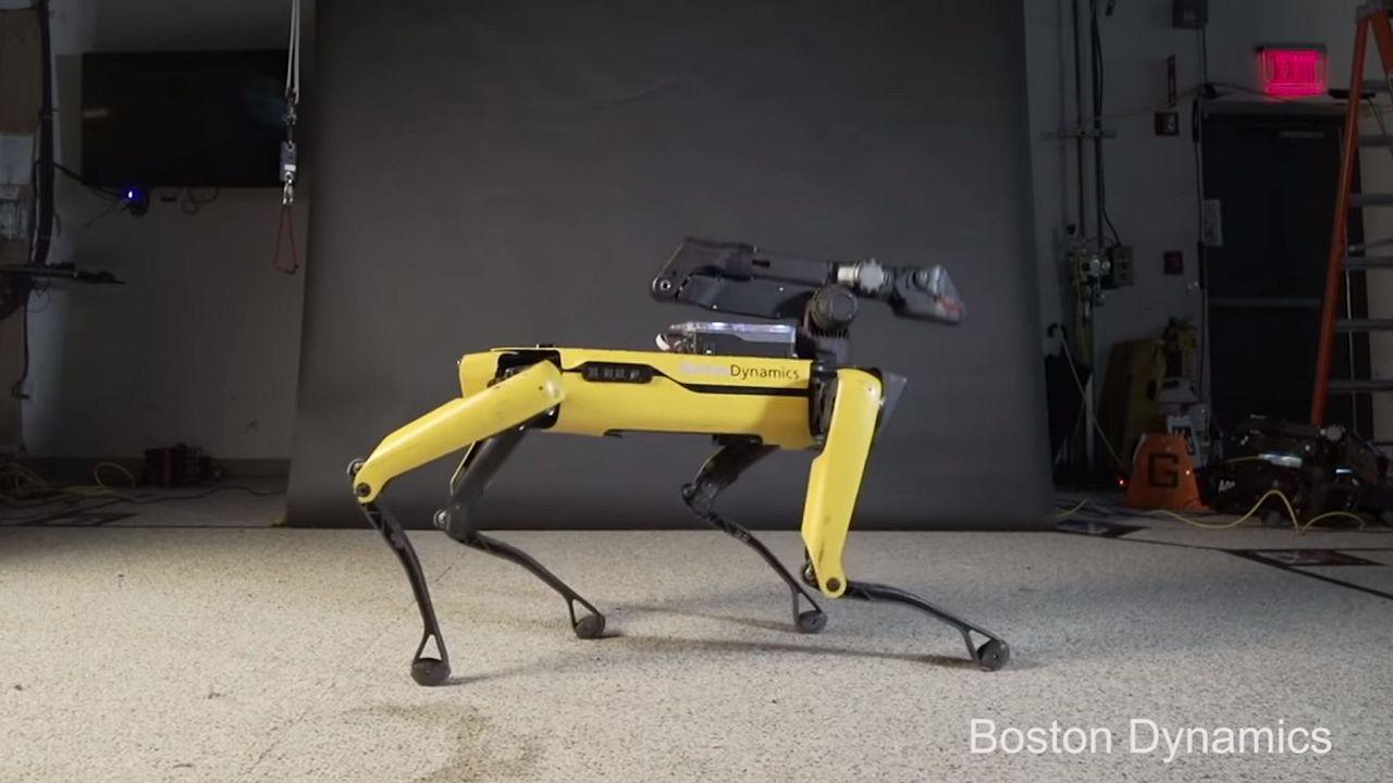 SpotMini robot dancing