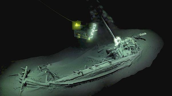 Dünyanın en iyi korunmuş eski gemi kalıntısı Karadeniz'de bulundu