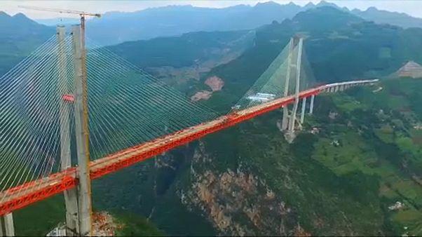 شاهد: جسر بيبانغيانغ الصيني هو الأعلى في العالم