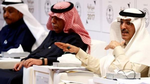 Saudi minister of finance Mohammed Al-Jadaan gestures during the 2017 budge