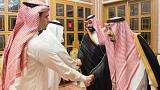 دیدار ملک سلمان و محمد بن سلمان با صالح و سهل خاشقجی