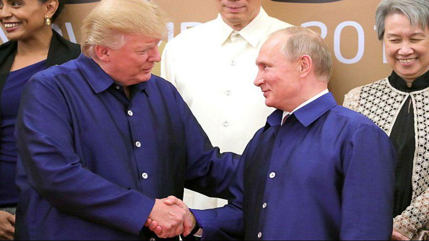 Vladimir Putin & Donald Trump at APEC Summit in Da Nang, Vietnam,
