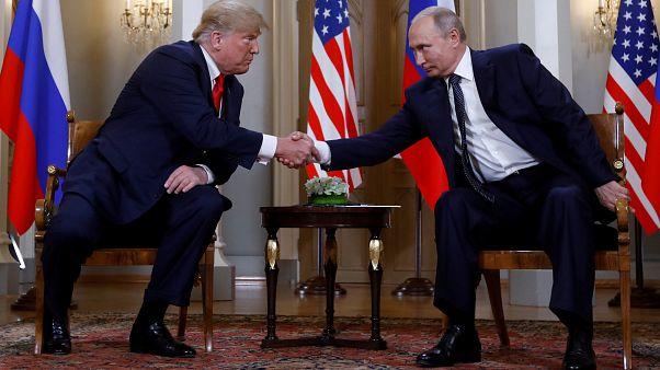 الرئيسان الأمريكي دونالد ترامب والروسي فلاديمير بوتيم