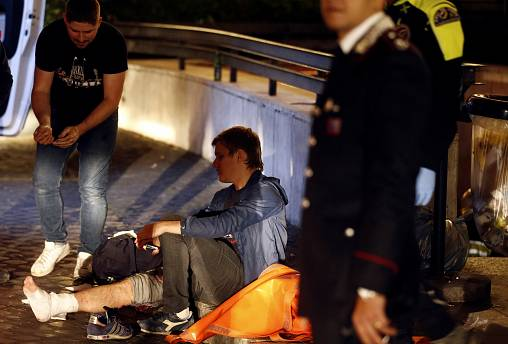 Rome escalator accident reportedly injures 20, mostly Russian soccer fans