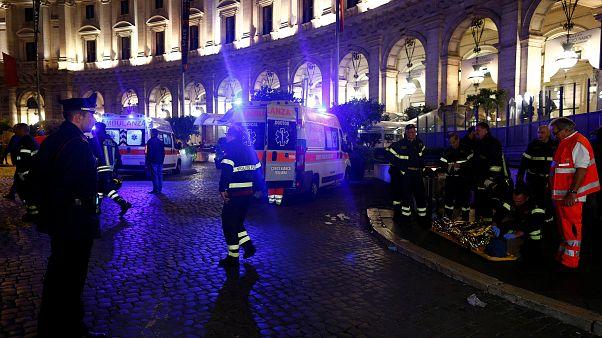 20 verletzte Fussballfans: Rolltreppenunglück in Rom