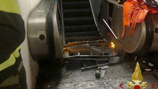 Al menos 20 heridos tras venirse abajo una escalera en el metro de Roma