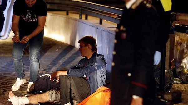 CSKA Moskova taraftarları Roma'da yürüyen merdivenden düştü: En az 20 yaralı