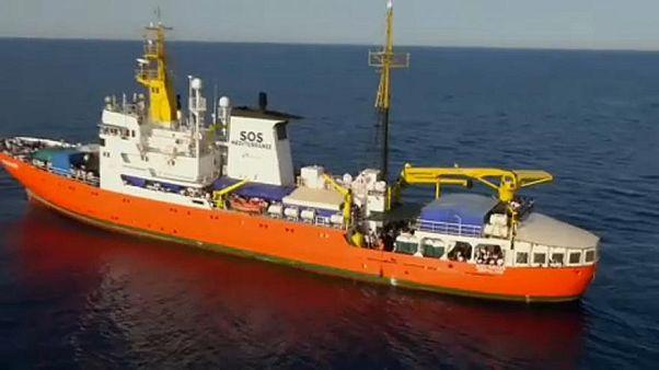 Migrantes do Aquarius desembarcam em Valeta