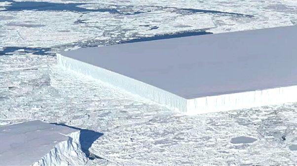 Geometriai jégtömb a Déli-Sarkon