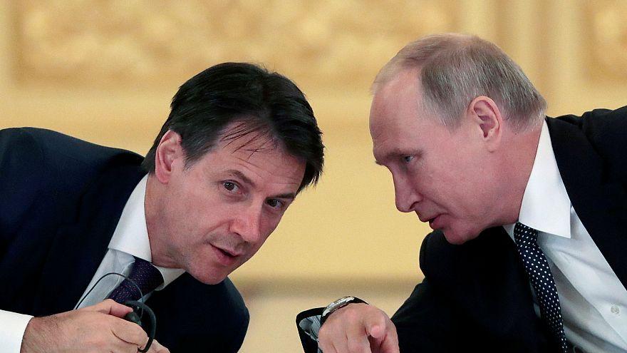 Giuseppe Conte estrecha relaciones con Rusia, en su visita a Moscú