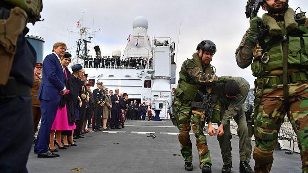 ویدئو؛ نمایش نظامی مشترک هلند و بریتانیا در رودخانه تیمز