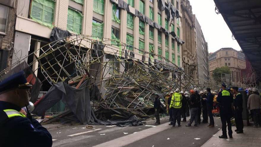 Watch: Scaffolding collapses in Antwerp, one dead, one injured
