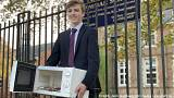 Teen brings books to class in a microwave after school bans rucksacks