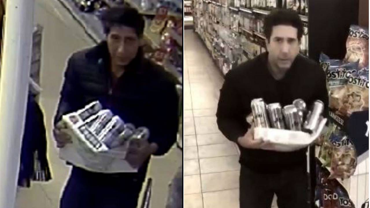 The suspect and David Schwimmer