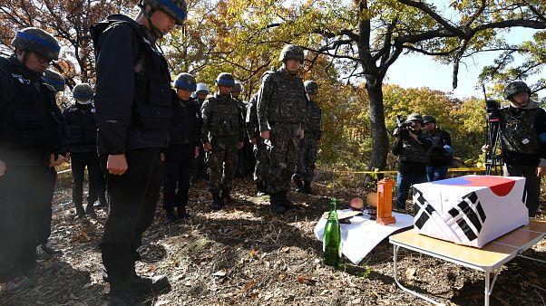 بعد 65 عاما، العثور على رفات جنود وبقايا الحرب الكورية في المنطقة منزوعة السلاح