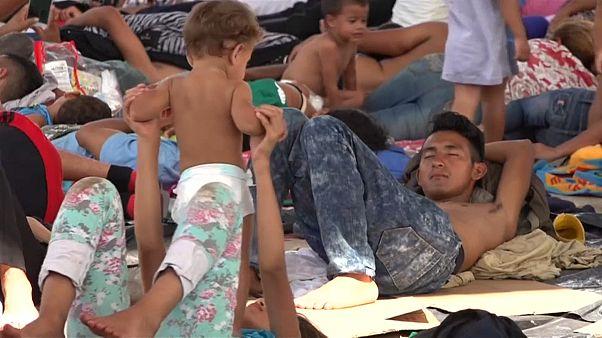 Migrantenkarawane macht Stopp im mexikanischen Mapastepec