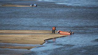 Meriç Nehri'nde bot alabora oldu