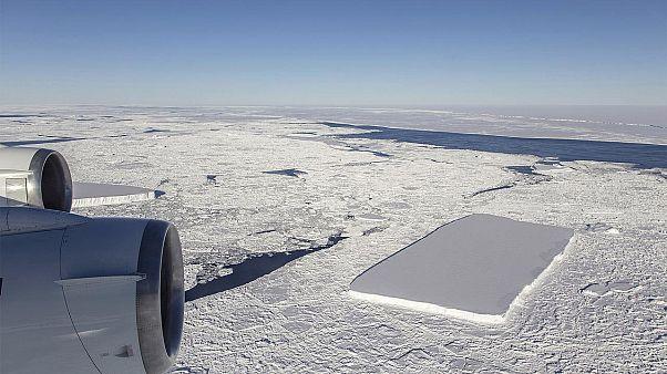 1,6 km in der Diagonalen: Forscher entdecken rechteckigen Eisberg in der Antarktis