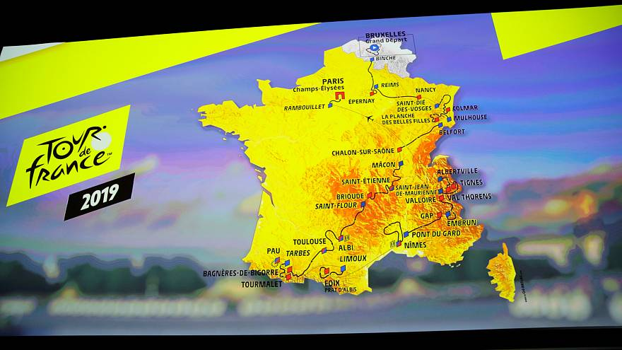 Suivez le tracé ! Voici le Tour de France 2019
