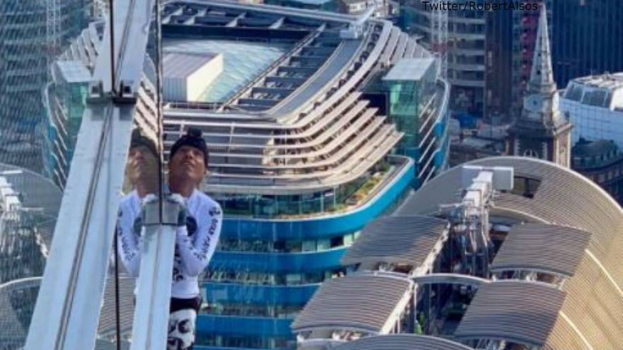 'French Spider-Man' arrested after climbing one of tallest towers in London