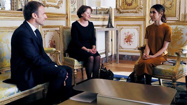 France : la prix Nobel de la Paix reçue à l'Elysée