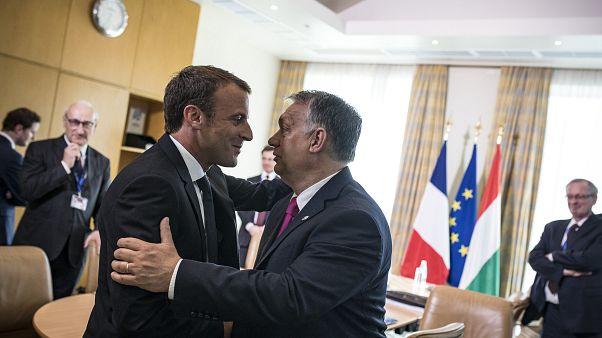 Orbán Viktor és Emmanuel Macron