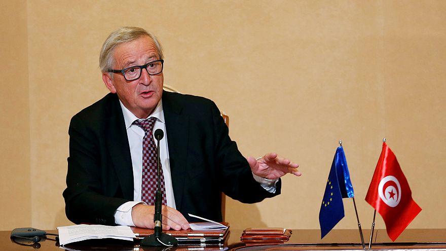 Juncker in Tunisia: Migration issue overshadows trade talks