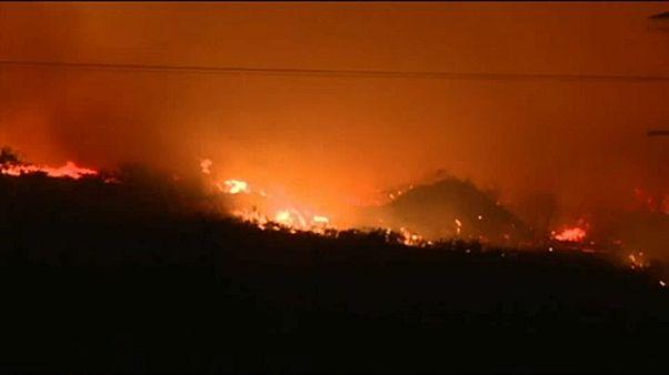 Tűzvész pusztít Halkidikín