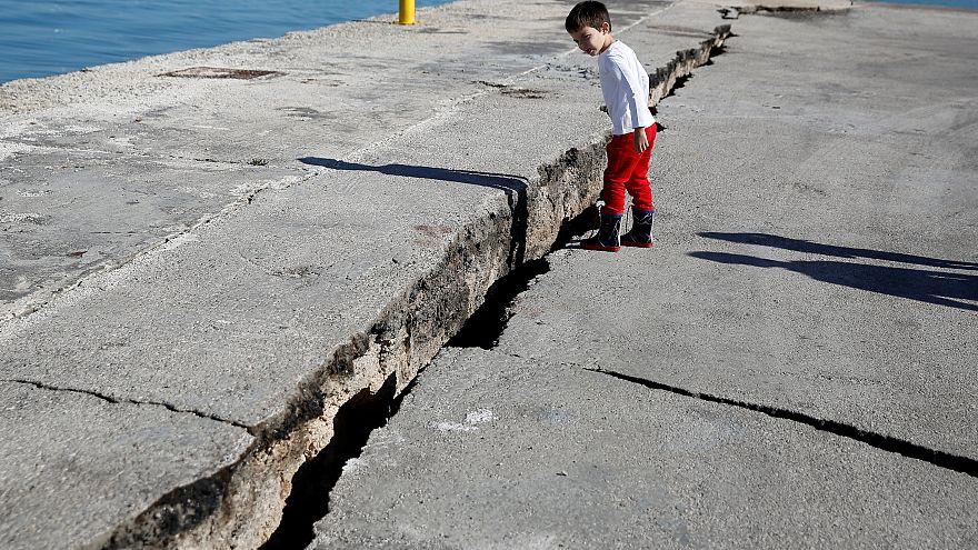 Megrongálódott a kikötő Zákintoszon az október 26-ai földrengésben