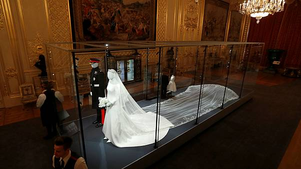 Meghan and Harry's wedding attire on display at Windsor Castle