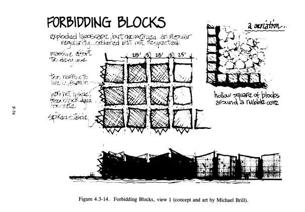 Заградительные блоки - рисунок Майкла Брилла