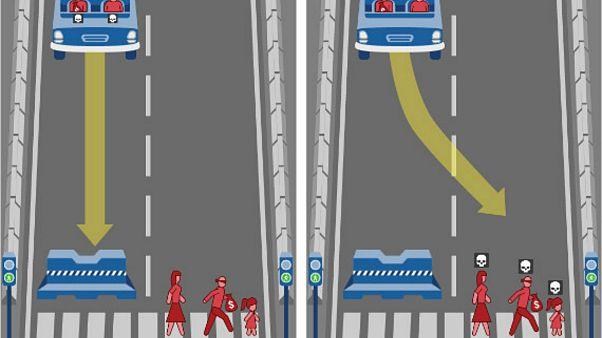 Kazanın kaçınılmaz olduğu durumlarda sürücüsüz araçlar kimi kurtarmayı seçecek?