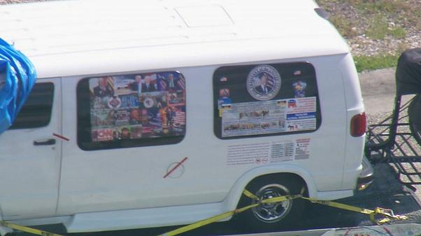 A van which was seized during an investigation into a series of parcel bomb