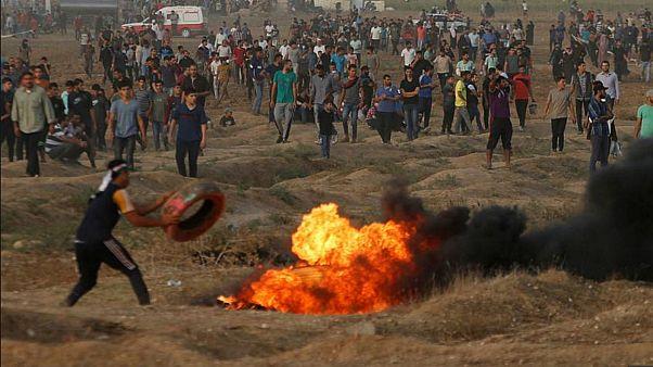 مقتل خمسة فلسطينيين برصاص إسرائيلي بغزة وسقوط قذائف صاروخية على بلدات إسرائيلية مجاورة