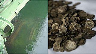 El Danubio, en mínimos históricos, revela un puente hundido en la Segunda Guerra Mundial