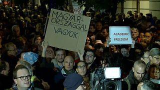 Марш в защиту Центрально-Европейского Университета
