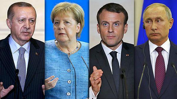 Merkel, Macron, Putin e Erdoğan reunidos em cimeira sobre a Síria
