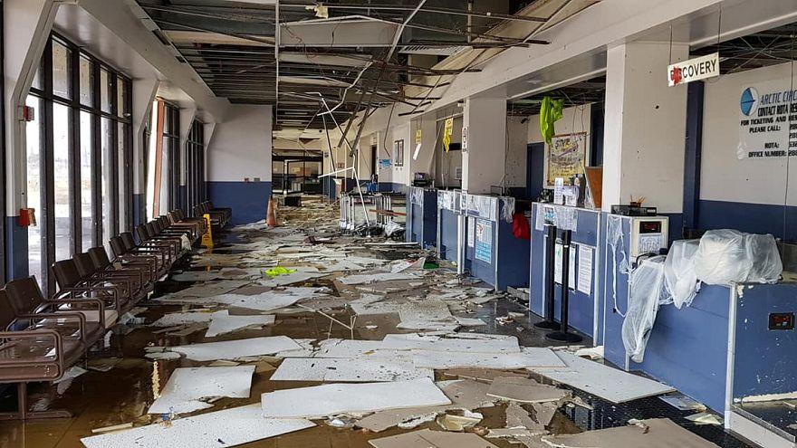 شاهد: اعصار يوتو يخلف دمارا واسعا في جزيرة سايبان الأمريكية