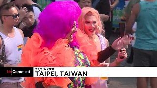 Tayvan: LGBTİ bireylerin Onur Yürüyüşü'nde 'barış ve huzur' çağrısı