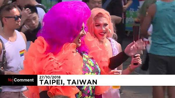Tens of thousands join annual gay pride parade in Taiwan