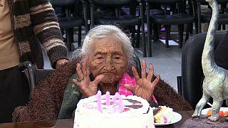"""Boliviana """"Mama Julia"""" festejou 118.º aniversário"""