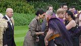 """شاهد: الأمير هاري وميغان يؤديان تحية """"هونغي"""" خلال زيارتهما لنيوزيلندا"""