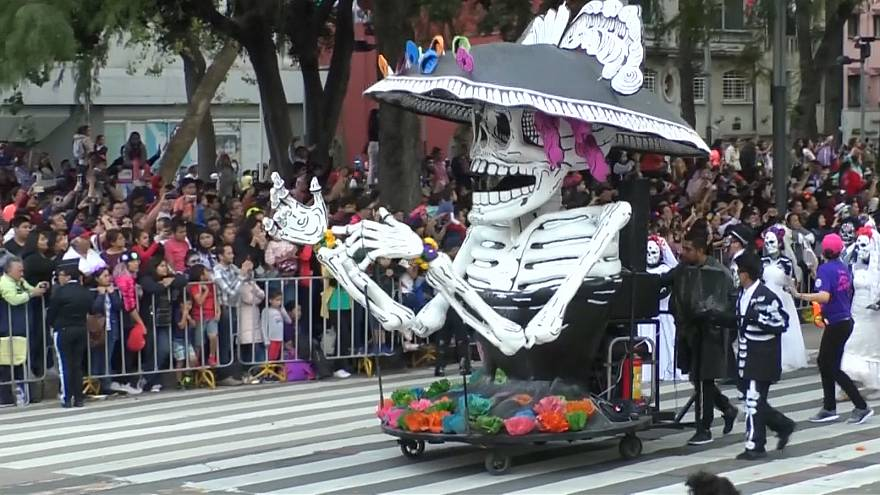 Mexico City comes alive with Day of the Dead parade