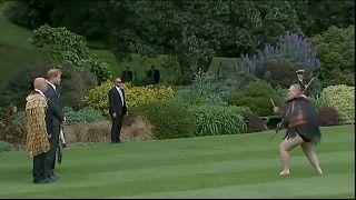 Prens Harry ve Meghan Markle'a Haka danslı karşılama