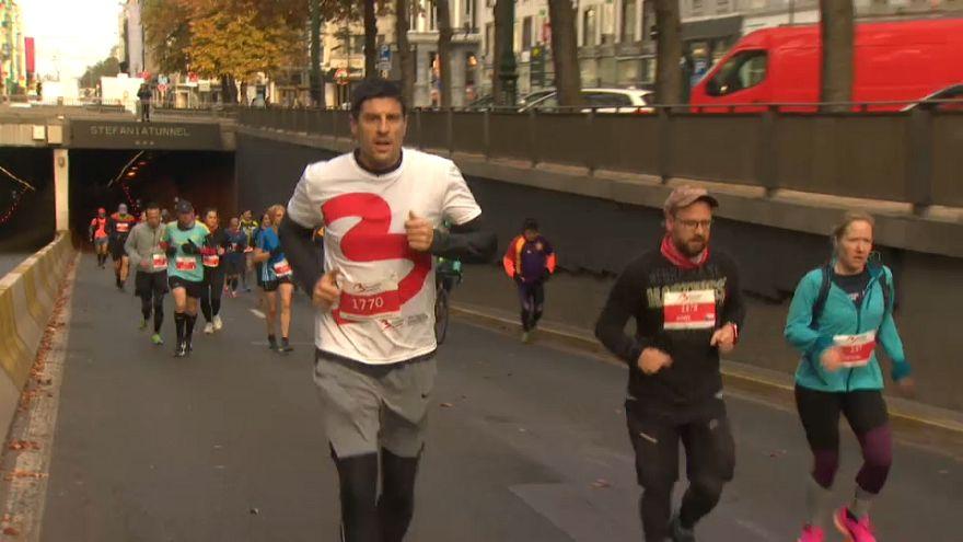Brussels attack survivor and former sports star runs marathon
